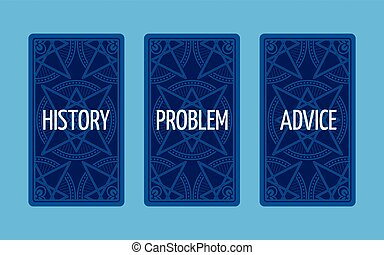 Three card tarot spread. Problem solution