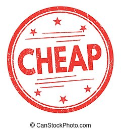 Cheap stamp or sign - Cheap grunge rubber stamp on white...