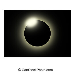 Solar eclipse - This image shows a solar eclipse.