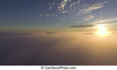 flyig above clouds at morning - flyig above beautiful clouds...