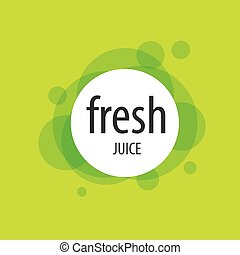 Abstract vector logo for juice. Vector illustration