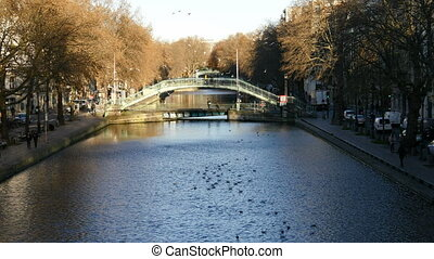 Saint Martin Canal in the morning - Paris, France-November...