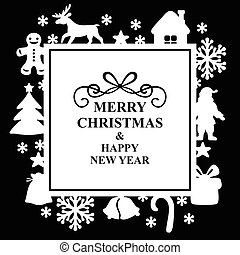 Christmas decorative card
