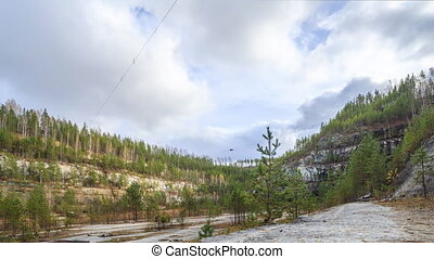 Wall quarry. Russia. HDR, Time Lapse.