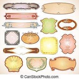 Vintage labels for your design. Vector set - Set elements...