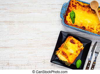 Lasagna with Copy Space Text Area - Copy Space Text Area...