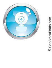 Gloss Button with web cam - Three Dimensional circle button...