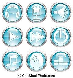Set Music Gloss Button