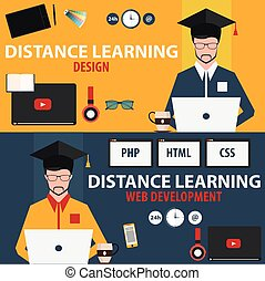 Distance learning. Set online education. Design, web development.