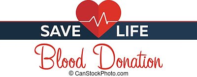 Blood donation banner. Medical illustration Vector...