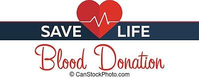 Blood donation banner. Medical illustration Vector...