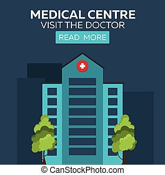 Medical centre. Visit the doctor. Hospital and health care.