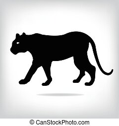 Vector image of an tiger