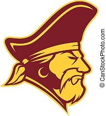 Pirate head mascot - Clipart picture of a pirate head...