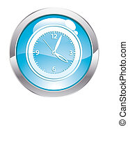 Gloss Button with Clock
