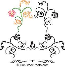 Cartoushe, vector illustration - Element of design,...