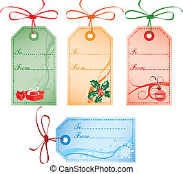 Christmas Gift Tags, vector - Collect Christmas Gift Tags -...