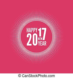 happy new year 2017. - Round banner with rays. happy new...
