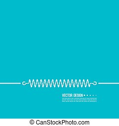 Coil spring vector icon. - Set coil spring vector icon....