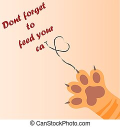 cat paw print with claws - original trendy vector...