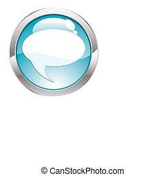 Gloss Button with Bubble - Three Dimensional circle button...