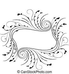 Floral frame, element for design, vector illustration