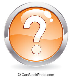Gloss Button with question mark - Three Dimensional circle...