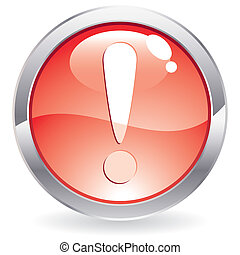 Gloss Button with exclamation point