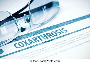 Ilustração, -, conceito, coxarthrosis, diagnóstico,...