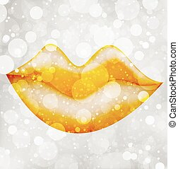 Vector gold Lips - Please visit my portfolio to look other...