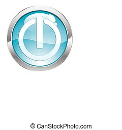 Gloss Button with Switch - Three Dimensional circle button...
