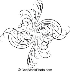 Element for design, corner flower, vector illustration