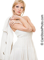 woman isolated on white background