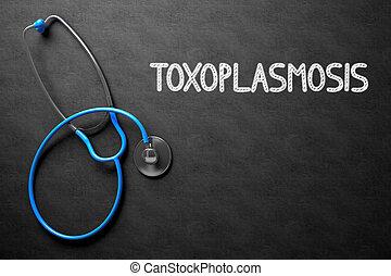 toxoplasmosis,  3D, Ilustración, pizarra