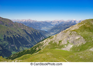Austrian alps and Zell am See lake, Austria