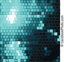 Abstract Square Mosaic blue Background