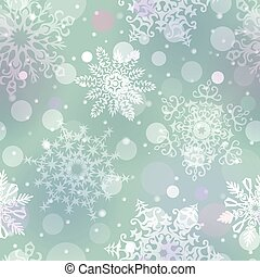 Christmas snowflakes vector background - Snowfall on blue...