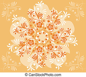 Background flower, elements for design, vector illustration