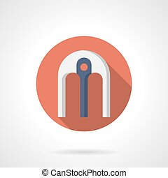 Arch with support flat round vector icon