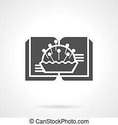 Literature for needlework glyph style vector icon - Abstract...