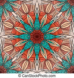 Seamless texture with coloring mandala with abstract...
