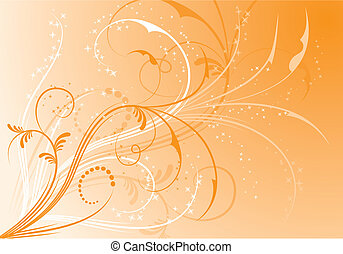 Abstract floral background, elements for design, vector