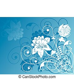 Element for design, flowers ornament, illustration.