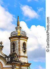 Church tower - Architectural details of the tower of St....