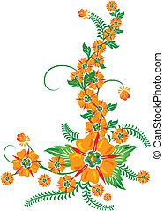 Background flower, elements for design, illustration -...