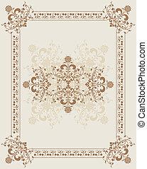 Element for design, flower frame, vector