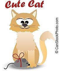 cute cat with mouse