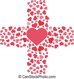 Vector illustration. Love, hearts. Valentines day. Be my...