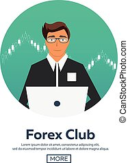 Forex market, trading. Forex club. Online trading....