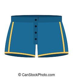 blue men swimming trunks icon